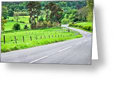 Rural Road Greeting Card