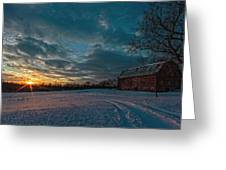 Rural Sunset II Greeting Card
