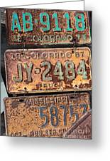 Rusted Plates Greeting Card