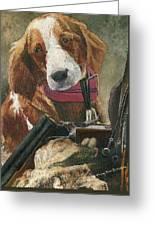 Rusty - A Hunting Dog Greeting Card