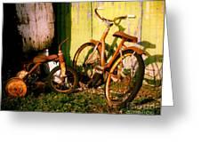 Rusty Bikes Greeting Card