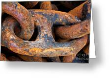 Rusty Steel Chain Detail Greeting Card
