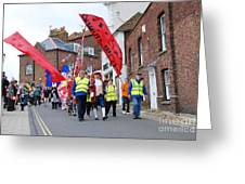 Rye Olympic Torch Relay Parade Greeting Card