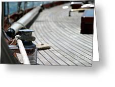 Sail Boat Rope Greeting Card