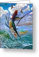 Sailfish And Lure Greeting Card