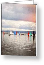 Sailing On Marine Lake A Reflection Greeting Card
