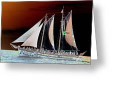 Sailing In Hope Greeting Card