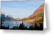 Saint Mary Lake And Wild Goose Island Greeting Card