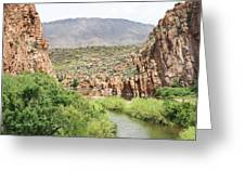 Salt River Above Roosevelt Lake Greeting Card