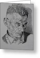 Samuel Beckett Greeting Card