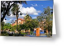 San Blas Park In Cuenca Ecuador Greeting Card