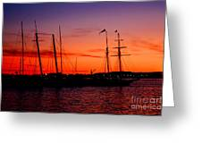 San Diego Harbor Sunset Greeting Card