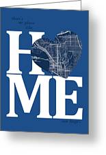San Diego Street Map Home Heart - San Diego California Road Map  Greeting Card
