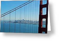 San Francisco Through Golden Gate Bridge Greeting Card by Twenty Two North Photography
