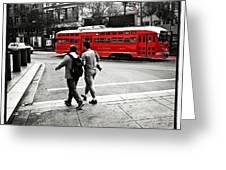 San Francisco Tram Greeting Card