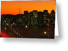 San Franscisco Ca Greeting Card