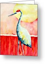 Sandhill Crane II Greeting Card
