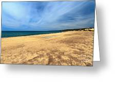 sandy beach in Piscinas Greeting Card