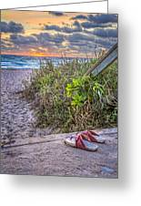 Sandy Toes Greeting Card