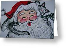 Santa And Company Greeting Card