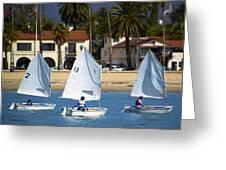 Santa Barbara Harbor Yacht Race Greeting Card
