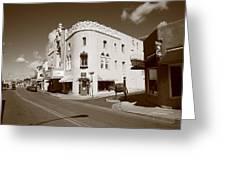 Santa Fe Street Scene Greeting Card