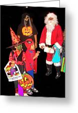 Santa Trick Or Treaters Halloween Party Casa Grande Arizona 2005 Greeting Card
