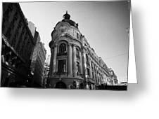 Santiago Stock Exchange Building Chile Greeting Card