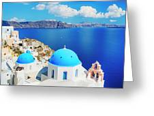 Santorini Island, Greece, Beautiful Greeting Card