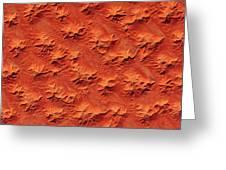 Satellite View Of Murzuk Desert, Libya Greeting Card