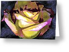 Scanned Rose Water Color Digital Photogram Greeting Card