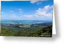 Scenic Coromandel Peninsula Nz Coastline Seascape Greeting Card