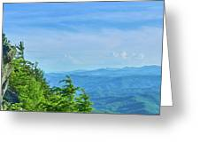 Scenic View Of Mountain Range Greeting Card