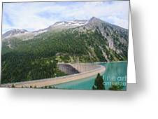 Schlegeis Dam And Reservoir  Greeting Card