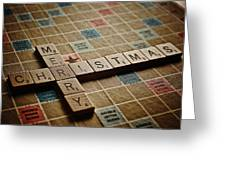Scrabble Merry Christmas Greeting Card