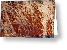 Scratched Wood Texture Greeting Card