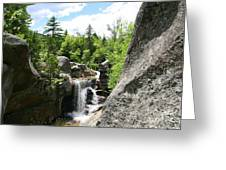 Screw Auger Falls At Grafton Notch State Park  Greeting Card