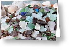 Sea Glass In Many Colors Greeting Card