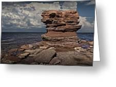Sea Stack At North Cape On Prince Edward Island Greeting Card