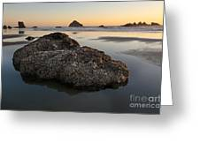 Sea Stacks At Sunset Greeting Card