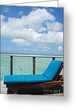 Seascape And Clouscape From Water Villa In Maldives Greeting Card