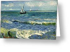 Seascape Near Les Saintes-maries-de-la-mer Greeting Card