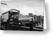 seaspan marine tugboat dock city of north Vancouver BC Canada Greeting Card