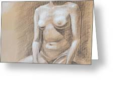 Seated Model Drawing  Greeting Card by Irina Sztukowski