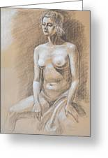 Seated Model Drawing  Greeting Card