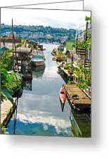 Seattle Houseboats Greeting Card