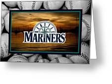 Seattle Mariners Greeting Card by Joe Hamilton