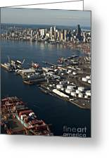 Seattle Skyline And South Industrial Area Greeting Card