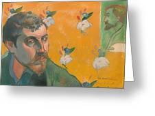 Self Portrait With Portrait Of Bernard Greeting Card
