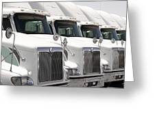 Semi Truck Fleet Greeting Card